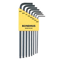 "10932 BONDHUS .050-5/32"" BALL WRENCH SET"
